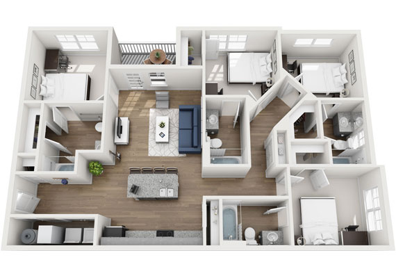 Floor Plans For Student Apartments In
